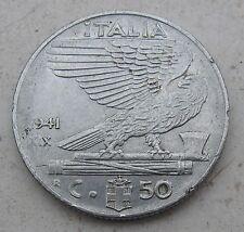 50 Centesimi Regno d'Italia Vitt. Emanuele III del 1941 - circolata - n. 946