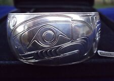 1981 Cree Nation Designer Bald Eagle Sterling Silver Cuff Bracelet  Pacific NW