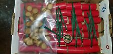 """35 Pyro Tube & Plugs with Fuse M-80 9/16 Dia. x 1-1/2 L W/ Thick .05"""" Wall  Red"""