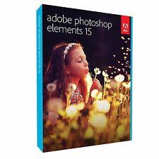 Adobe Photoshop Elements 15 New/Sealed For Mac & Windows