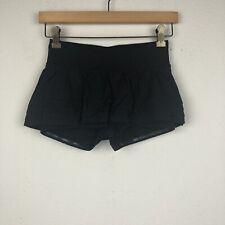 LULULEMON Size 4 Solid Black BREATH OF FIRE Pleated LUXTREME Skirt Skort M35