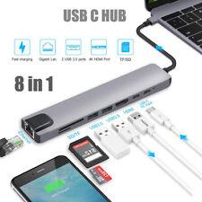 8-IN-1 USB Typ-C Hub zu HDMI Adapter 4K Hub TF SD Reader Slot für MacBook Pro