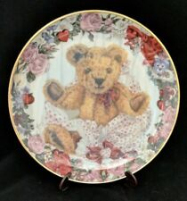 Franklin Mint A Valentine For Teddy Sarah Bengry Teddy Bear Collectible Plate