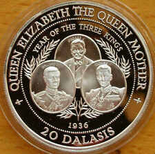 Gambia 1994 History of Kings 20 Dalasi Silver Coin,Proof