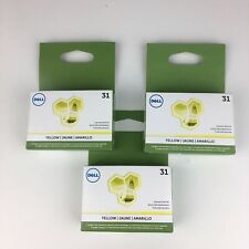3 Genuine Dell 31 yellow Ink for V525W, V725W NEW Sealed 3MH11