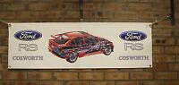 Ford Escort Rs Cosworth Rojo PVC Grande Taller Bandera Taller Muestra Bandera