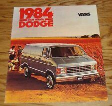 Original 1984 Dodge Van Sales Brochure 84 Ram B150 B250 B350