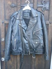 Vintage Leather Biker Jacket  Motorcycle Rocker Punk Size 44 Chest