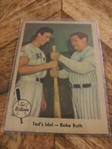 1959 Fleer Ted Williams Ted's Idol-Babe Ruth