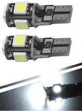 2x Ampoule T10 w5w Veilleuse Blanc 6000K Canbus interieur plaque immatriculation