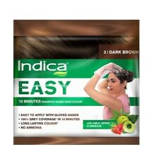 Indica Easy Dark Brown #3 Amla+Henna+Hibiscus hair color 25 ml pack of 3