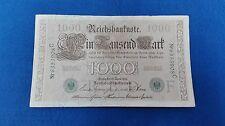 Billete 1000 marcos alemanes 1910. Sin circular.