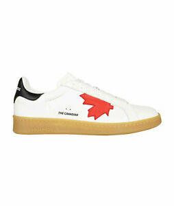 D SQUARED2 Men's Shoes Sneakers White Leather NIB Authentic 40 41 42 43 44 45 46