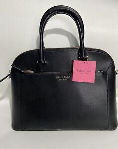 Kate Spade New York Louise Black Medium Satchel Bag/ Leather Handbag