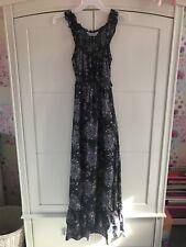 🌺Ladies Size 14 Petite Dorothy Perkins Black Floral Maxi Dress VGC🌷