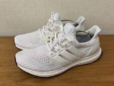 Adidas ULTRA Boost-Blanco De Punto Con Cordones Zapatillas/Zapatillas-Uk 8 EU 42