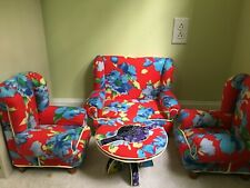 18 Inch Doll Couch, Chairs, And Table Set Floral Pat