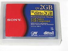 5 Sony Data Cartridges: QW2GB QICWide Ditto2GB, Cap. 1GbNative, 2GbCompressed