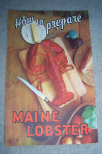 HOW TO PREPARE MAINE LOBSTER brochure Sea and Shore Fisheries