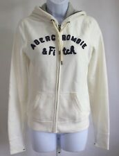 Abercrombie cream hoodie, size small, women's great condition