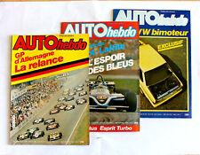 179-ANCIEN MAGAZINE 3 revue AUTO hebdo 1981 Nº 278-280-281 GP VW PORSCHE RENAULT