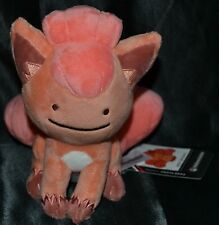 "6"" Ditto As Vulpix # 37 Official Pokemon Center Plush Dolls Toys Stuffed Animals"
