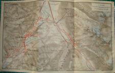 dorf bad St. Moritz Sankt Switzerland/ karte Schweiz antique map Pontresina 1909