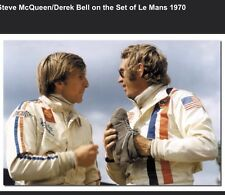 Steve McQueen/Derek Bell On The Set Of Le Mans Movie 1970 Car Poster! Own It!