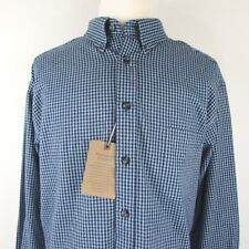 Roundtree Yorke Casuals Portuguese Flannel 3XT Blue Checks Long Sleeve Shirt NWT