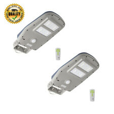 2x Solar Power Street Road Light PIR Parking Lot Yard Outdoor Security Lighting
