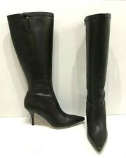 $228 Ann Taylor Brown Leather Palermo Boots Pointed Toe High Heels Size 7E