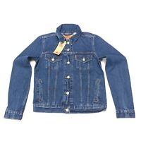 Levi's Women's Original Trucker Jacket With Star Studs In Blue Size S