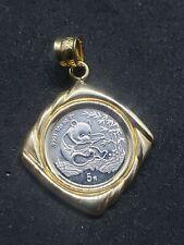 1994 CHINA Proof PLATINUM PANDA 1/20 OZ. 5 YUAN 14k Gold Pendant - 5000 mintage
