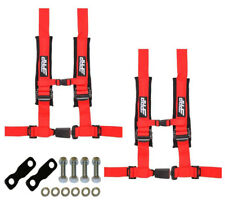 "PRP 4 Point 2"" Harness Seat Belts Automotive Latch Hardware Kit Red YXZ 1000R"