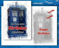 Tardis Materialising Birthday Card! Doctor Who Card Impressionistic Style Paint