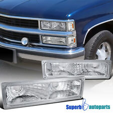 For 1992-1994 Chevy Blazer Bumper Signal Lights Parking Lamps Gmc Suburban C/K
