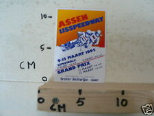 STICKER,DECAL ASSEN IJSSPEEDWAY HALVE FINALE WK 1995 HOLLAND