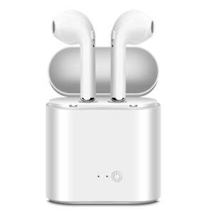 Écouteurs Bluetooth Sans Fil Blanc avec Boite de Charge pour Samsung Galaxy S10E