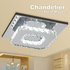 Modern Crystal LED Ceiling Pendant Lamp Lighting Flush Mount Chandelier