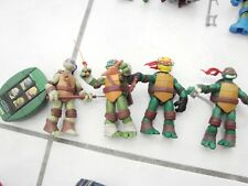 2012 Viacom TMNT Action Figures Lot of 4 w/ Talking Turtle Shell