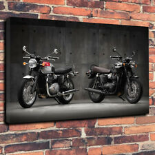 "2016 Triumph Bonneville Printed Canvas Picture A1.30""x20"" x 30mm Deep Motorbike"