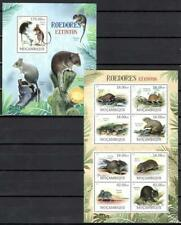 [Moz] Mozambique 2012 Wild Animals, Rodents. Set of 2 Mnh Sheets.