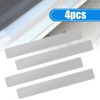 4x Car Accessories Carbon Fiber Door Plate Sill Scuff Cover Anti-Scratch Sticker