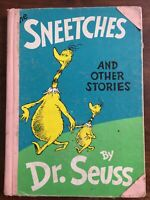 The Sneetches And Other Stories Dr Seuss Hardcover Vintage Book, 1961 Exlib