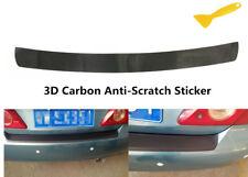 Car Rear Bumper Guard Trunk Cover 3D Carbon Fiber Protector Sticker Decal