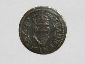 IRELAND 1625-1644 FARTHING KING CHARLES I LOW GRADE WORLD COIN 🌈⭐🌈
