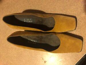 Stuart Weitzman Chunky Heel Suede Pumps Rust Size 9.5