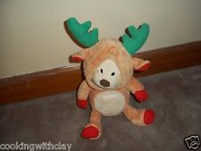 PLUSH DOLL FIGURE SOUND N LIGHT CHRISTMAS REINDEER BEAR SINGS MOVES