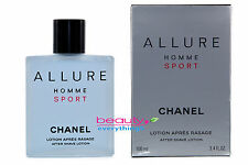 Chanel Allure Homme Sport After Shave Lotion 3.4oz / 100ml NIB Sealed For Men