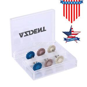 Dental Composite Polishing Diamond System Wheel 14mm RA Disc AZDENT 6Pcs/Set